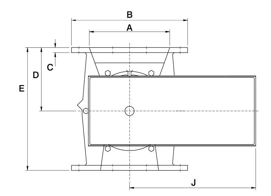 Rotolok Rotary Valve Square Inlet Technical Diagram