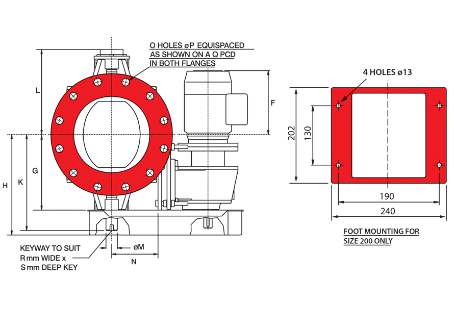 Blowthrough Seal Circular Inlets Diagram