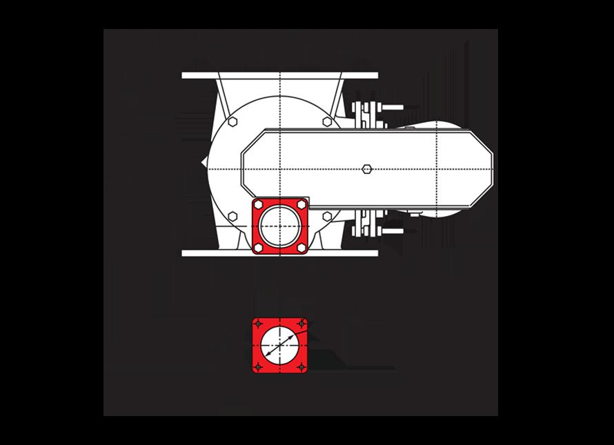 Blowthrough Seal Circular Technical Drawing