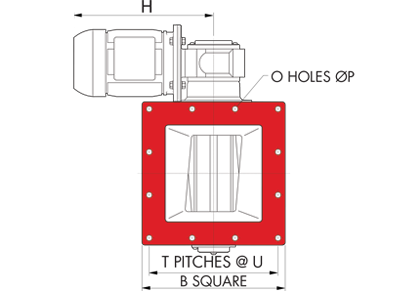 Dust Collector valve Square Inlet