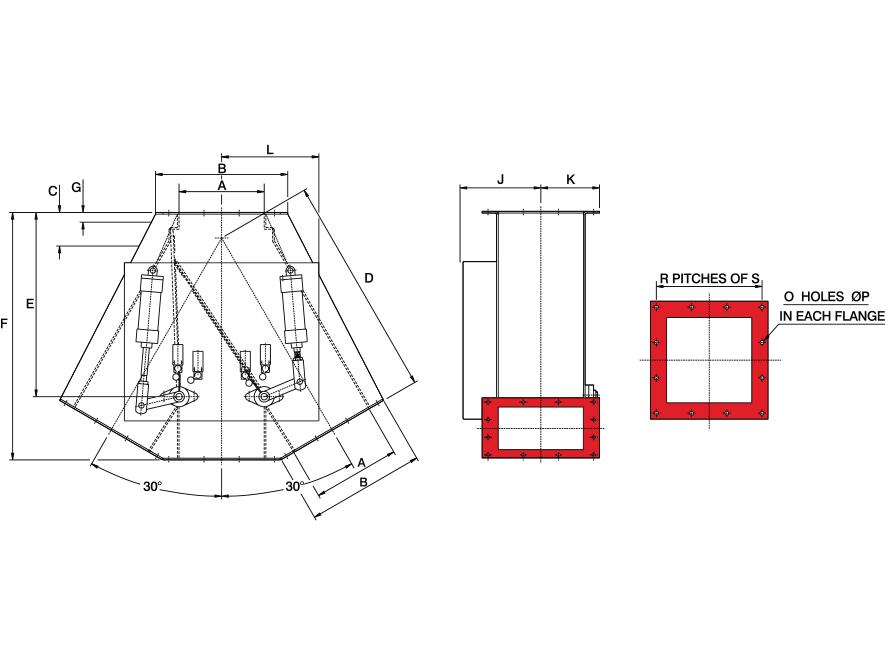 30x0x30 Square Pneumatic GDV