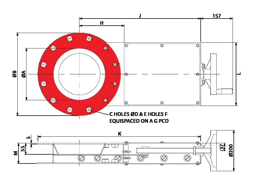 Slide Valve - Leadscrew - Circular GA-01