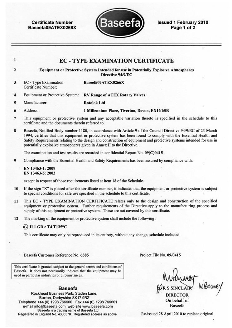 Rotolok EC Type Examination 2
