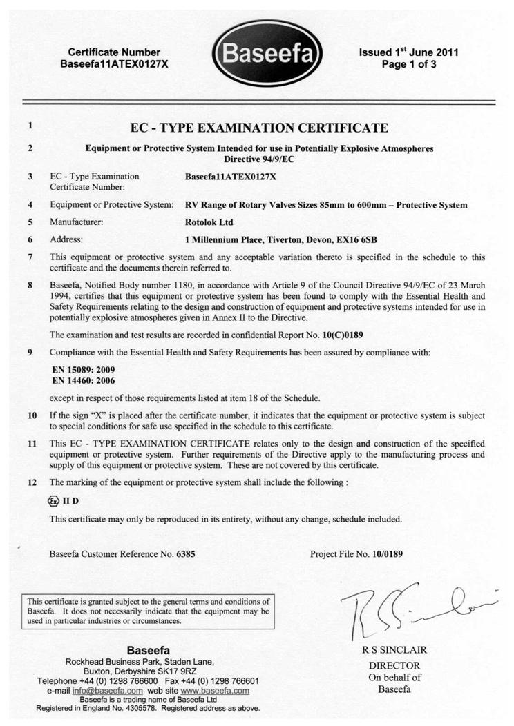 Rotolok EC Type Examination